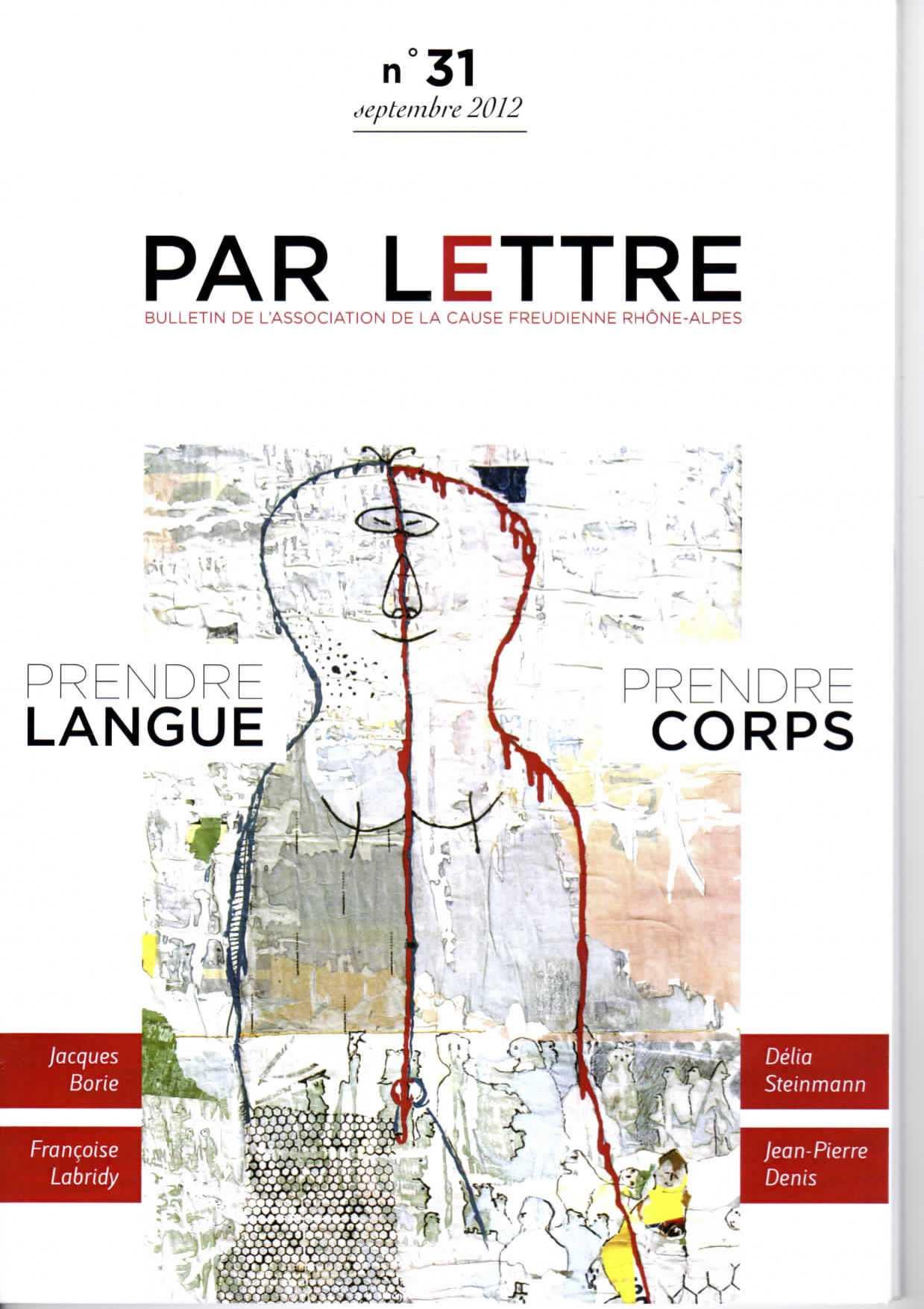 Par Lettre - N° 31 - Prendre Langue, Prendre Corps
