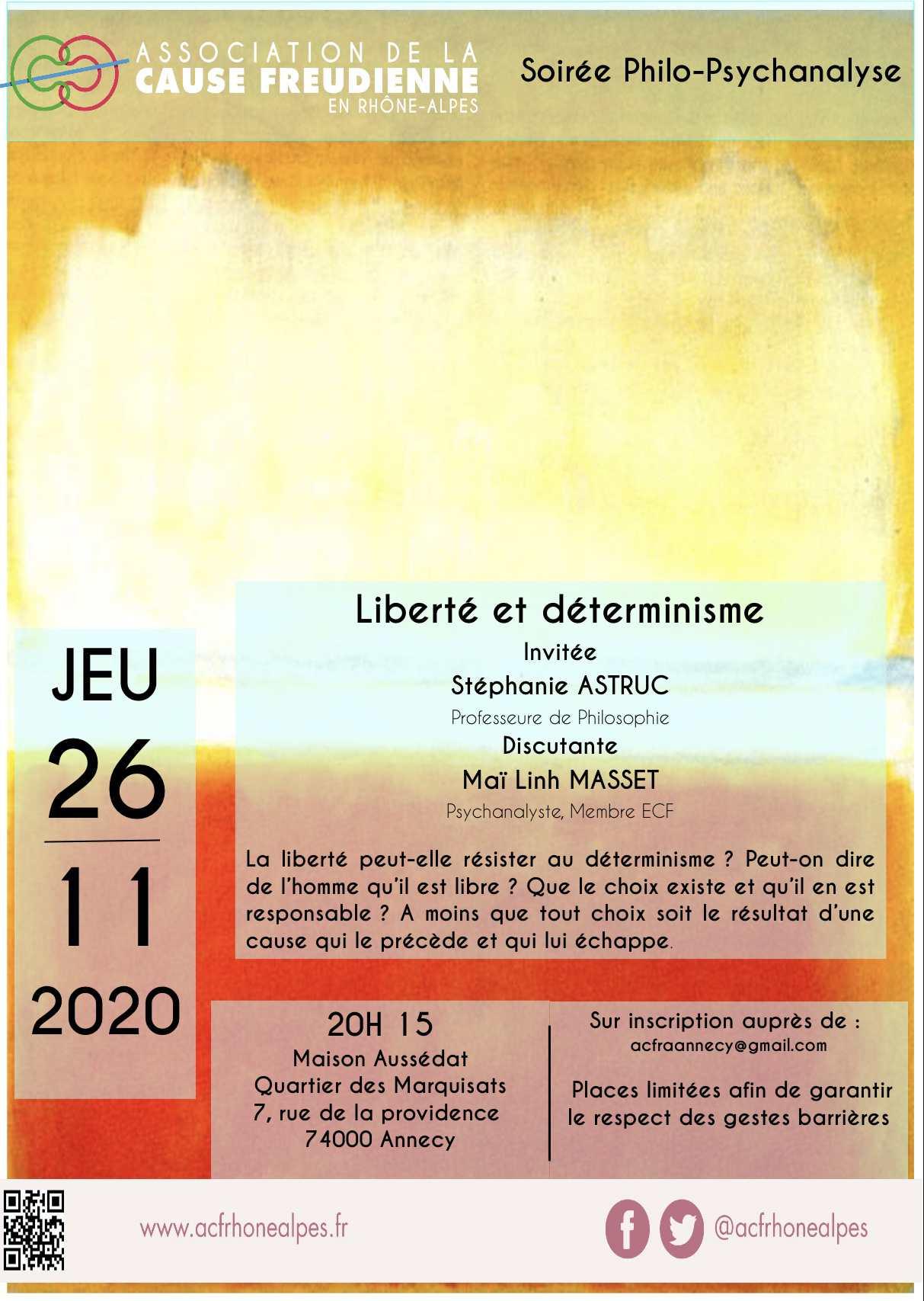 Liberté et déterminisme REPORTÉ