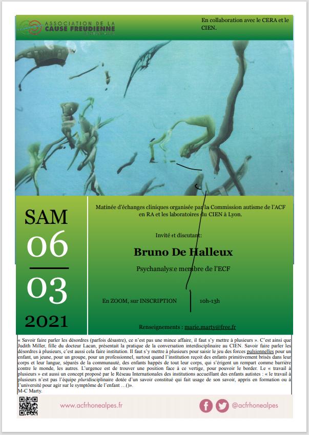 Nouvel écho de la matinée d'échanges cliniques avec Bruno de Halleux