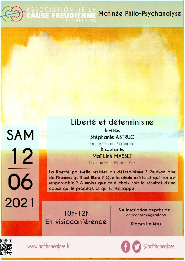 Matinée philo-psychanalyse Liberté et déterminisme