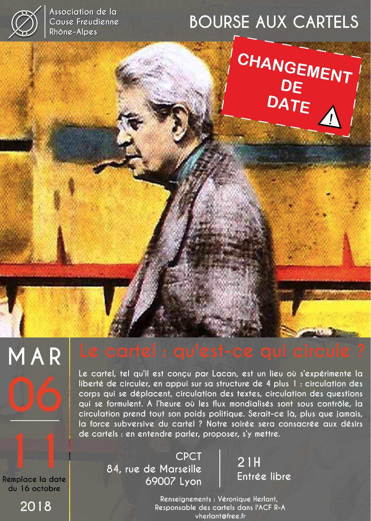Affiche soirée des cartels du 6 novembre