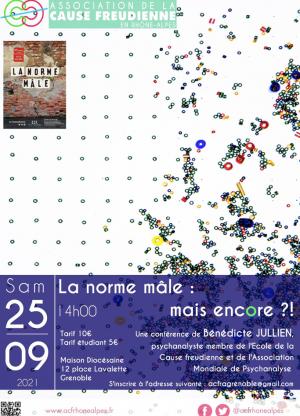 """""""La norme mâle, mais encore ?!"""" Conférence de Bénédicte Jullien à Grenoble"""