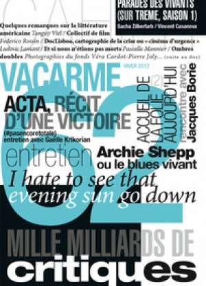 Entretien avec Jacques Borie, Revue Vacarme N° 62