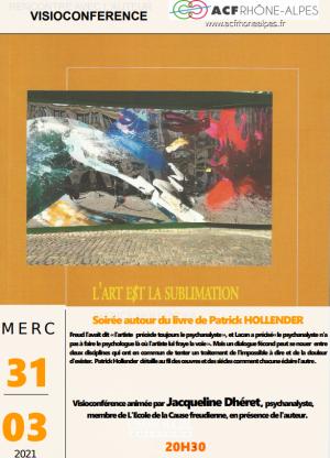 ECHO de la soirée autour du livre de Patrick Hollender, L'art est la sublimation