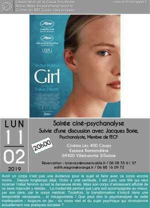 11 Février 2019- Soirée Ciné psychanalyse à Villefranche