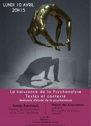 Séminaire d'étude  de la psychanalyse - La naissance de la Psychanalyse - Textes et contexte