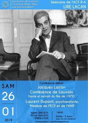 Séminaire Lire Lacan, conférence de Louvain