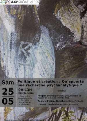 Politique et création : Qu'apporte une recherche psychanalytique ?