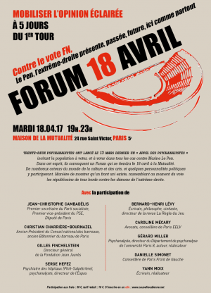 Forum à la mutualité à PARIS