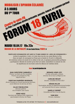 Forum à la mutualité à PARIS