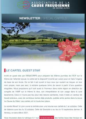 Newsletter spécial cartel Septembre 2020